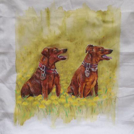 Psi – povlak na polštářek 40×40 cm