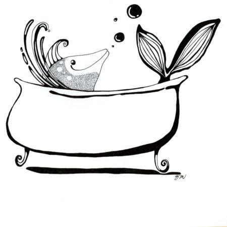 Rybička ve vaně