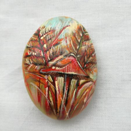 Houba – malovaný kámen