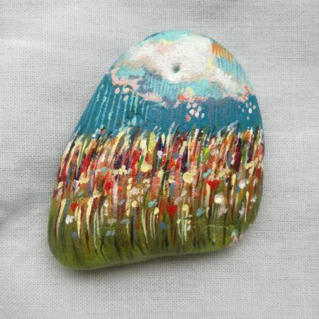 Déšť – malovaný kámen