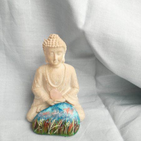 Buddha – malovaný kámen