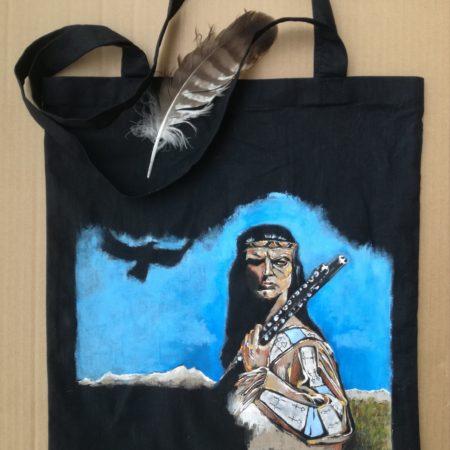 Winnetou – plátěná taška 38×42 cm