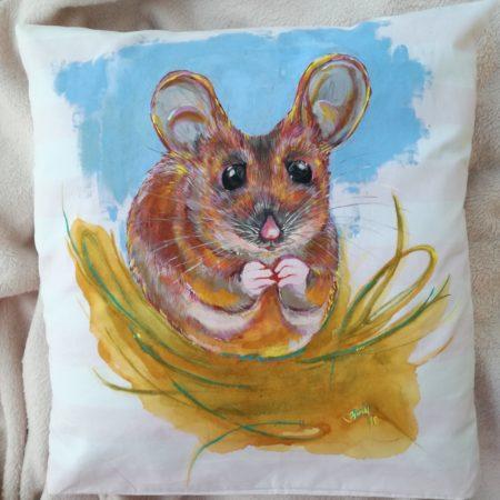Myšice – povlak na polštářek 40×40 cm